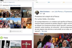 Facebook page of Palabra Nueva magazine