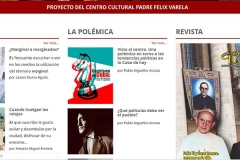 Web site of Espacio Laical magazine